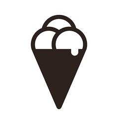 Ice cream icon vector image