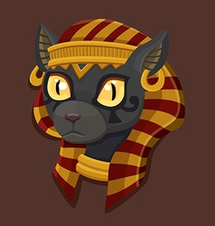 Icon head bastet vector