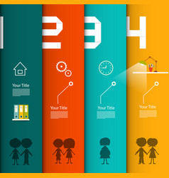 Infographic template four steps infographics with vector