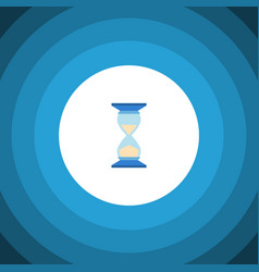 isolated hourglass flat icon waiting vector image