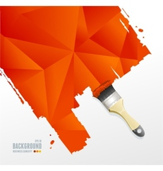 Paint brush and triangle background vector