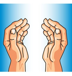 protecting hands of faith vector image vector image