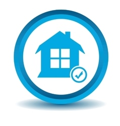 Select house icon blue 3d vector