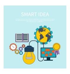Smart idea concept vector image