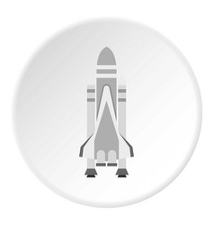 Space shuttle icon circle vector
