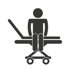 Stretcher hospital emergency icon vector