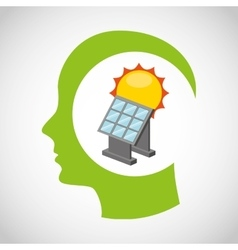 Think green ecology icons vector
