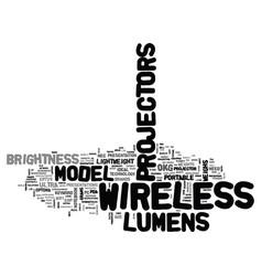 Wireless projectors text word cloud concept vector