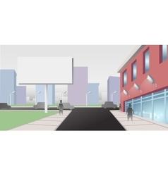 Billboard on City Street vector image