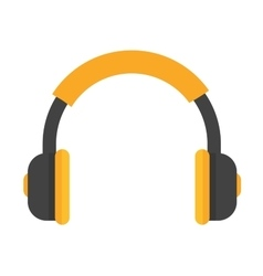 Headphones icon isolated vector