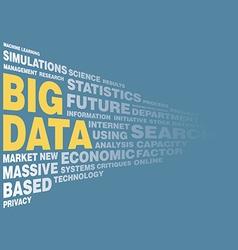 Big data concept word tag vector