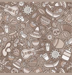cartoon hand-drawn latin american mexican vector image
