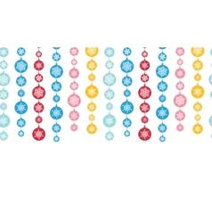 Colorful Snowflakes Stripes Horizontal Seamless vector image