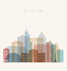 Raleigh state north carolina skyline vector