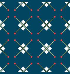 Blue turkish ornamental ceramic tile vector