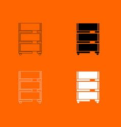Floor rack for paper icon vector