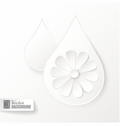 Drop icon with flower vector image
