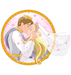 Royal couple wedding vector