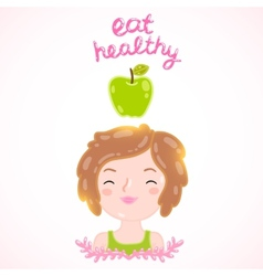 Eat healthy diet vector