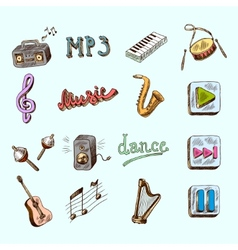 Music icons vector