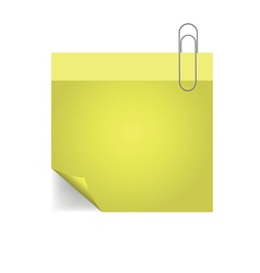 Yellow note with pin vector