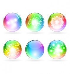 Multicolored balls vector