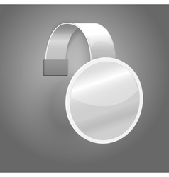 Blank white plastic wobbler isolated on grey vector
