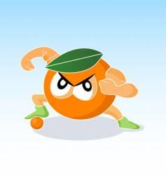 cartoon fighter character vector image
