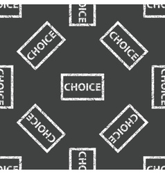 Choice stamp pattern vector