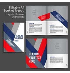 A4 book layout design template vector