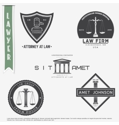 Lawyer services law office the judge the vector