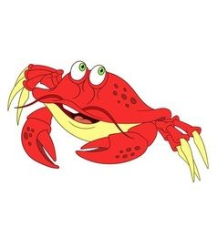 Cute cartoon crab vector