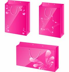 Pink paper packets vector