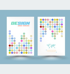 Flyer design templates with circle pastel color a vector