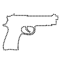 Gun sign vector