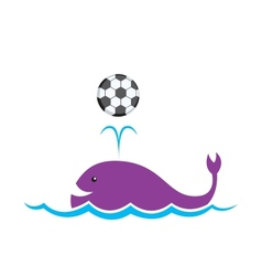 Whale Football vector image