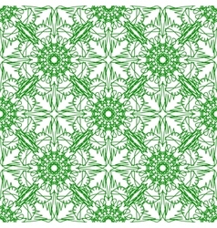 Green seamless texture ornamental backdrop vector