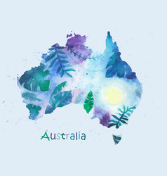 a stylized map of australia vector image vector image