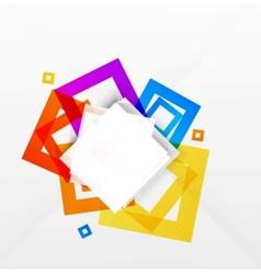 Abstract colorful squares background vector image