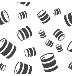 Barrel seamless pattern vector