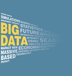 Big data concept word tag vector image