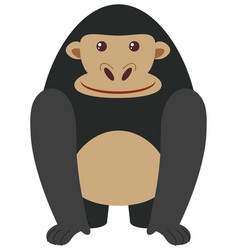 Black gorilla on white background vector