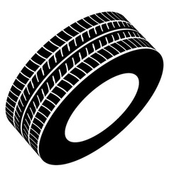Black tyre symbol vector