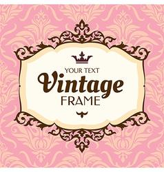 floral retro frame vector image vector image