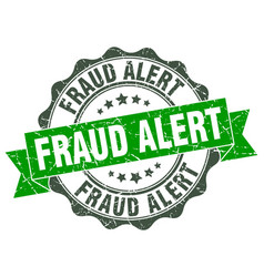 Fraud alert stamp sign seal vector