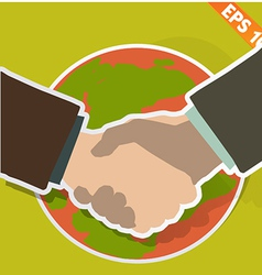 Hand shaking - - eps10 vector