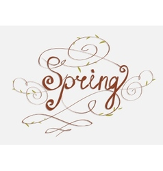 handmade calligraphy SPRING vector image