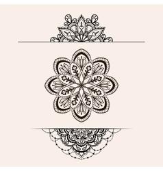 Henna ethnic mandala set boho femine lace vector
