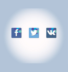 Icons for social 2networks apps and web vector