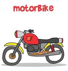 Motorbike of art vector